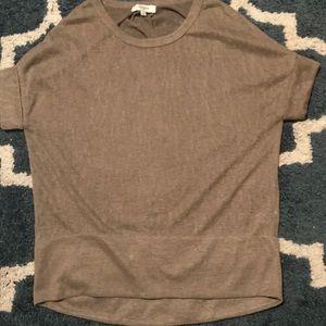 Tan short-sleeve tunic